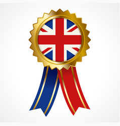 Badge or medal of united kingdom insignia vector