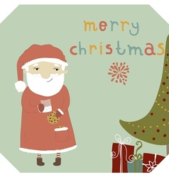 Card with santa claus vector