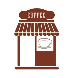 Coffee shop traditional market vector