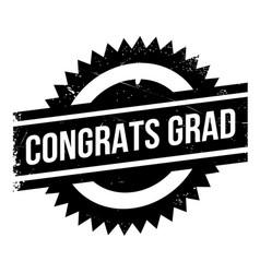 Congrats grad rubber stamp vector