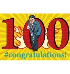 Congratulations 100 anniversary event celebration vector image vector image