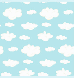 Cute seamless clouds pattern vector