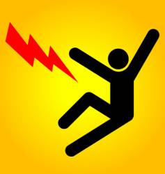 danger sign high voltage vector image vector image