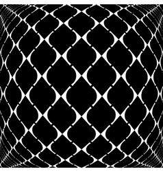 Design warped grid geometric pattern vector