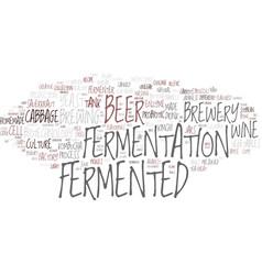 Fermented word cloud concept vector