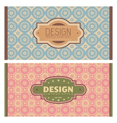 Frames in retro style vector image vector image