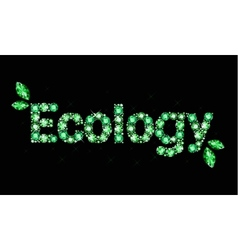 Gem word ecology vector image vector image