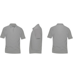 gray polo t shirt vector image vector image