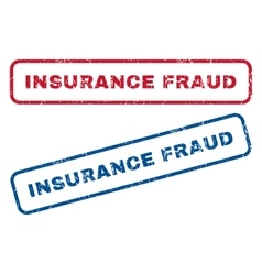 Insurance fraud rubber stamps vector