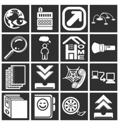 internet web icon series set vector image vector image