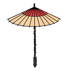 Japanese umbrella isolated icon vector