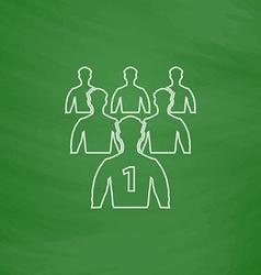 Leadership computer symbol vector image