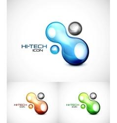 Liquid abstract icon vector