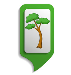map sign tree icon cartoon style vector image