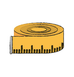 measurement tape isolated vector image