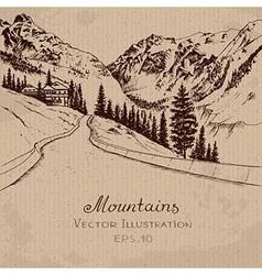 Mountain Road vector image vector image