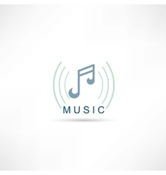 Music symbol icon vector image vector image