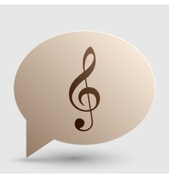 Music violin clef sign g-clef treble clef brown vector