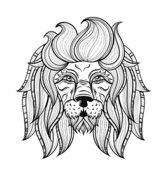Ornamental lion ethnic patterned head vector