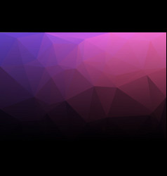 Purple blue pink low poly background vector