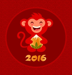 red monkey vector image vector image