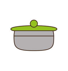 Saucepan pot kitchen organic food vector