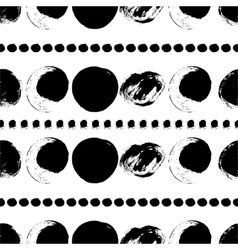 Seamless black and white pattern with circles vector image vector image