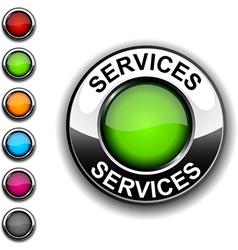 Services button vector image vector image