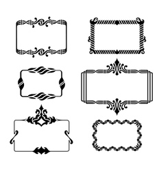 Set of vintage graphic frames vector image