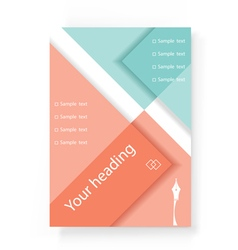 Template of design of the brochure flyer vector image vector image