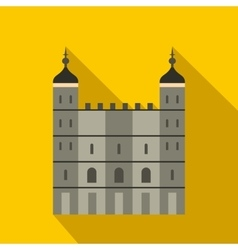 Tower of London in England icon flat style vector image vector image