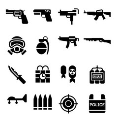 weapon icon vector image