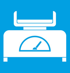weight scale icon white vector image