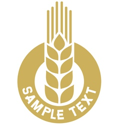 wheat label vector image