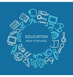 Education background vector
