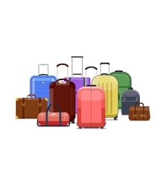 Travel bags and luggage color vector image