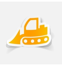 Realistic design element bulldozer vector