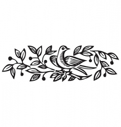 antique ornament engraving vector image