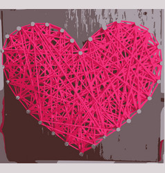 love background with pink hearts vector image