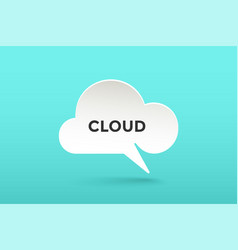 Icon of white paper cloud talk vector