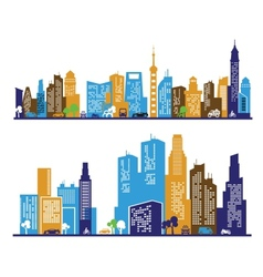 Color city vector