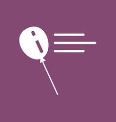 Icon balloon silhouette vector