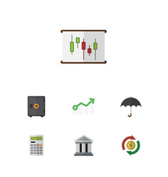 Flat icon incoming set of calculate interchange vector