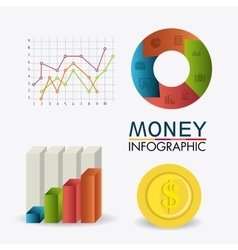 Business growth and money savings statistics vector