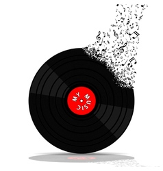 Vinyl record-lp music vector