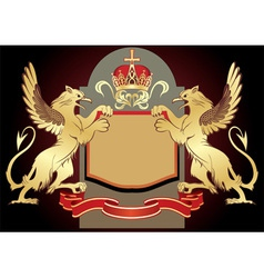Coat of arms insignia vector