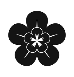 Orchid black simple icon vector