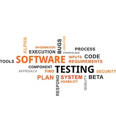 word cloud software testing vector image