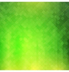 Green checkered background vector image