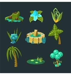 Landscape Elements Set vector image